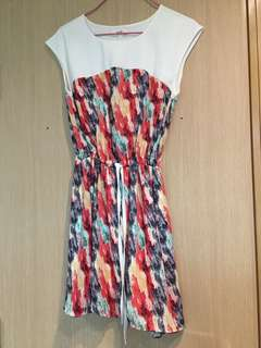 Colourful one piece dress