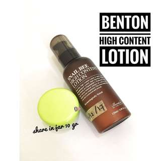 Benton High Content Lotion Share In Jar