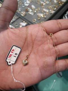 18 Karat Saudi Gold Necklace with Pendant