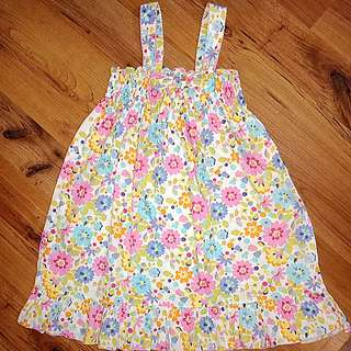 Cute Cotton FLORAL Smocked Dress