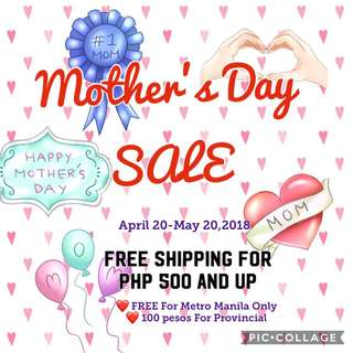 Advance Mother's Day SALE