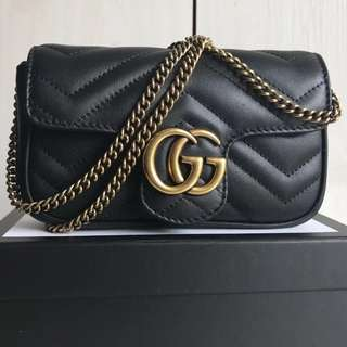 Gucci GG Marmont Super Mini Bag (Just look at the price without looking at quality.Please bypass,Tq)
