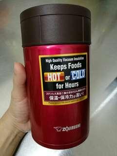 ZOJIRUSHI Stainless Steel Food Jar 550ml (metallic red)