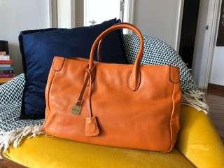 Rabeanco Leather Handbag (Orange)