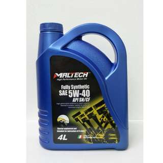 Maltech Performance Fully Synthetic Engine Oil 5W-40