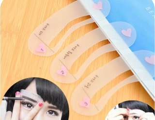 BnIp 3 Pcs Styles Eyebrow Grooming Shaping Assistant Template Eyebrow Shape Drawing Card Guide