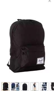CHEAPEST Herschel Classic Bag (BLACK / GREY / BLUE)