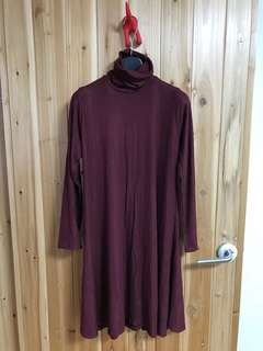 Plus size maroon dress