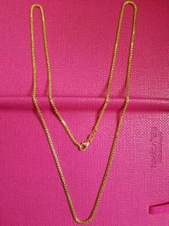 "18K750 White / Yellow Gold Necklace (24"" Long ItalyMade)                            18K750 黃/白金長身項鍊"