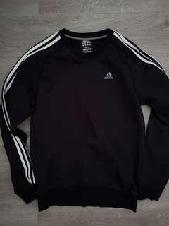 Adidas black cotton pullover