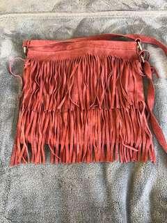 Pink Suede Bag