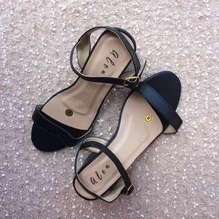 Black Block Heels for Women