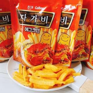 韓國HAITAI&CALBEE聯名辣炒螃蟹蟹黃薯條