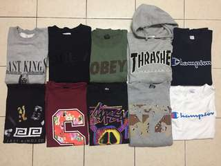Champion stussy thrasher obey last kings