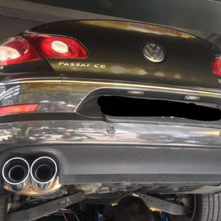 VW PASSAT CC Stainless Steel SuperSprint Muffler + Mid Pipe c/w Cert & Invoice of Purchase! LTA Compliant! PRICE REDUCED! $1300 ONLY!