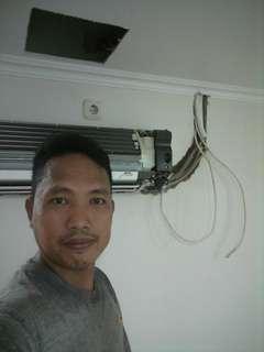servis AC/bongkar pasang AC,perbaikan kulkas dan mesin cuci