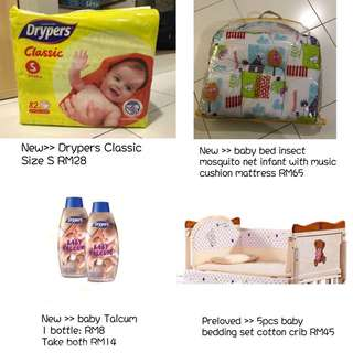 Drypers, Baby music Mattress, baby powder