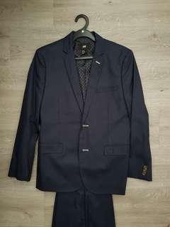 H&M navy blue slim fit  casual Blazer EUR46