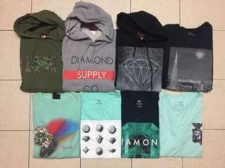 Diamond supply co. hoodie crewneck tshirt dsc