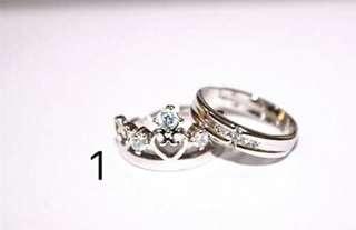 Bangkok Silver Plated Couple Ring