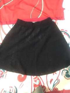 mini skirt in black (NEW)