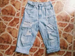 Tattered pants