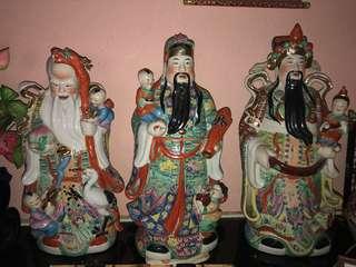 Fu lu shou 3 statues