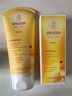 Weleda 有機金盞花嬰幼兒洗髮沐浴乳及潤膚霜
