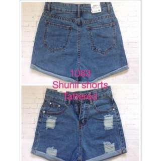 Plus size hw tattered short