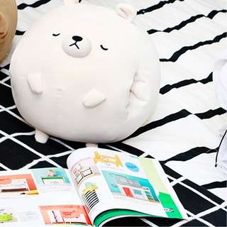 Bear Pillow with Blanket and Hand Warmer
