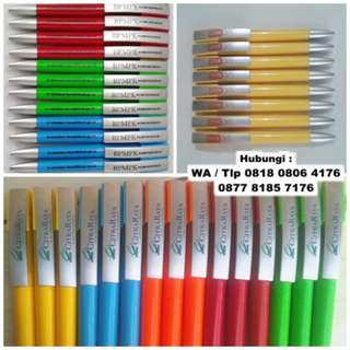 Pulpen Plastik Putar / Pen Promosi Kode 1122