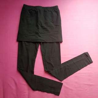 Korean Skirt Leggings for Women (Black)