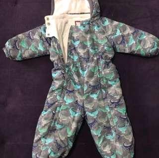 Kids waterproof winter romper jacket
