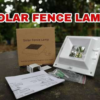 Solar Fence Lamp 6 LED 4W