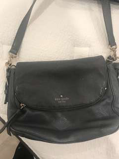 KATE SPADE LEATHER GREY BAG