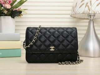 Chanel WOC Caviar Black