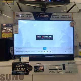 "Samsung UHD 4K SMART TV 50""Free Soundbar Speaker GRATIS 1X CICILAN"