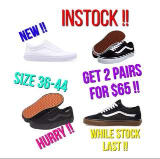 VANS CLEARNACE SALE !!