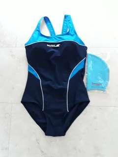 Swim Wear + Matching swim cap (L)