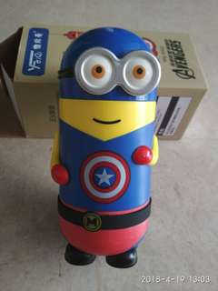 Minion Captain America Thermal Flask Water  Bottle