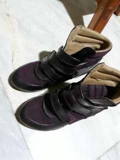 SALE!!! PreLoved Hi-Cut Wedge Sneakers (S&H Brand)