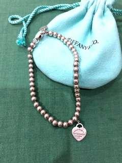Tiffany and co heart earrings bracelet pink