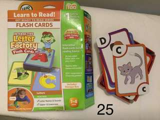 Leap frog ABC.. Flash cards
