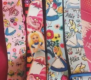 Disney Alice in the Wonderland 愛麗絲夢遊仙境 迪士尼正版 行李帶