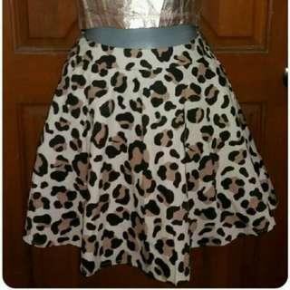 Asyf Camouflage Skater Skirt