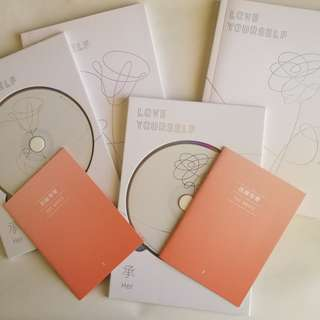 "BTS Love Yourself ""Her"" Albums"