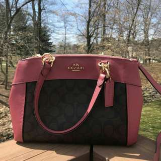 Coach Mini Brooke Carryall in Signature Brown Rouge