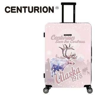 C22 雪地馴鹿 粉☆CENTURION☆ 行李箱航空城 網路最低價 拉鍊款雪花 雪一片一片一片 行李箱/旅行箱 29吋