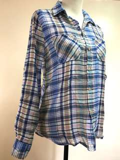 Vintage Boyfriend American Eagle Outfitters Checkered Long Sleeve