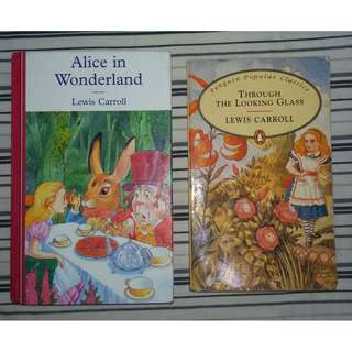 ALICE IN WONDERLAND & THROUGH THE LOOKING GLASS